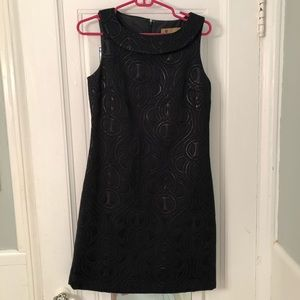 Black Mod Dress with metallic print sz 6